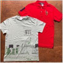 Kit Camisa Polo Nova + Camiseta Zara Verde, 10-12 - 10 anos - US Polo Assn e Zara Boys