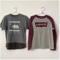 Kit 2 Camisetas (Levi`s + California), 12-13 - 12 anos - Levi`s