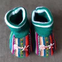 Sapatinho de lã do Peru - 17 - Não informada