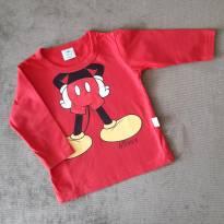 Camiseta manga longa Mickey - 9 meses - Disney
