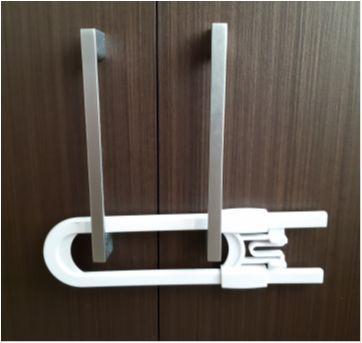 Trava de segurança para portas de armário - Sem faixa etaria - Não informada