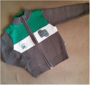 Casaquinho de lã com zíper - 2 anos - Pulla Bulla