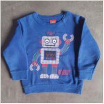 Moletom azul Robô Kyly - 2 anos - Kyly