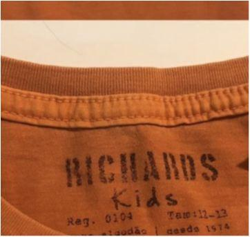 "T-shirt Richards NOVA cor de ""telha"", tam 12-13 - 12 anos - Richards Kids"