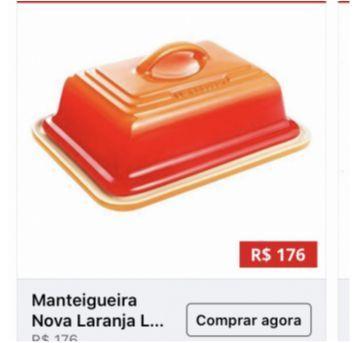 Manteigueira Le creuset cerâmica laranja nova!! - Sem faixa etaria - Outras
