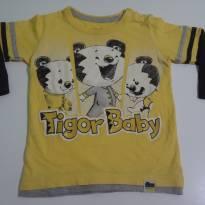 Camiseta Tigor Manga Longa Tam. 2p - 2 anos - Tigor T.  Tigre