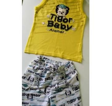 CONJUNTO TIGOR - TAM. 2P - 2 anos - Tigor Baby e Tigor T.  Tigre