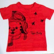 Camiseta tigor Aviador - Tam. 3P - 24 a 36 meses - Tigor T.  Tigre e Tigor Baby