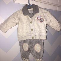 Macacão de Plush com casaquinho - Recém Nascido - Beth Bebê
