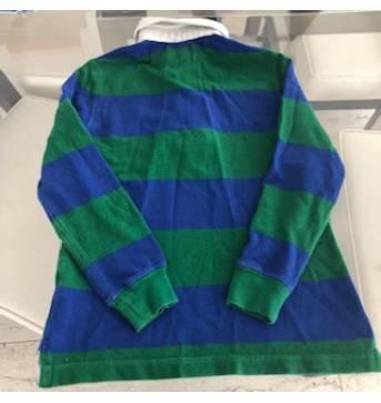 Camisa polo da Polo Ralph Lauren de mangas longas nas cores azul e verde.  tamanho 6 anos. efb537c5c643f