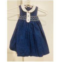 Vestido azul de bolinhas First Impression - 18 meses - First Impressions