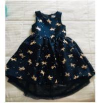 Vestido H&M de festa unicórnios - Maravilhoso! - 6 anos - H&M