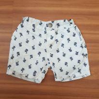 Shorts da Baby club branco com desenho pra menino(12 a 18 meses) - 12 a 18 meses - Baby Club