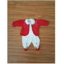 Macacão com bolero  vermelho lindo! - 3 meses - Beth Bebê
