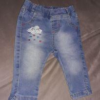 Calça jeans tamanho P - 0 a 3 meses - Sem marca