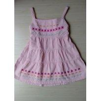 Vestido em Veludo Rosa - 3 anos - Não informada