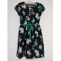 Vestido Floral com Fita Carter`s