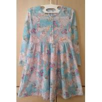 Vestido Sublimado Jardim de Hortênsias - 6 anos - Pulla Bulla