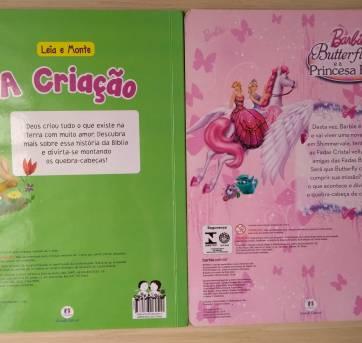 Conjunto de Livros Quebra-cabeças: A Criação e Barbie Butterfly - Sem faixa etaria - Ciranda Cultural