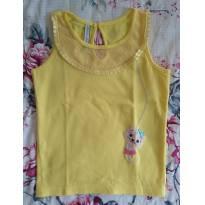 Blusa Amarela de Gatinha - 6 anos - Alphabeto