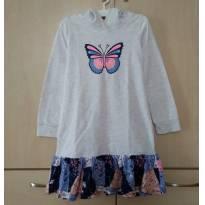 Vestido Moletom com Borboleta Target - 6 anos - Target