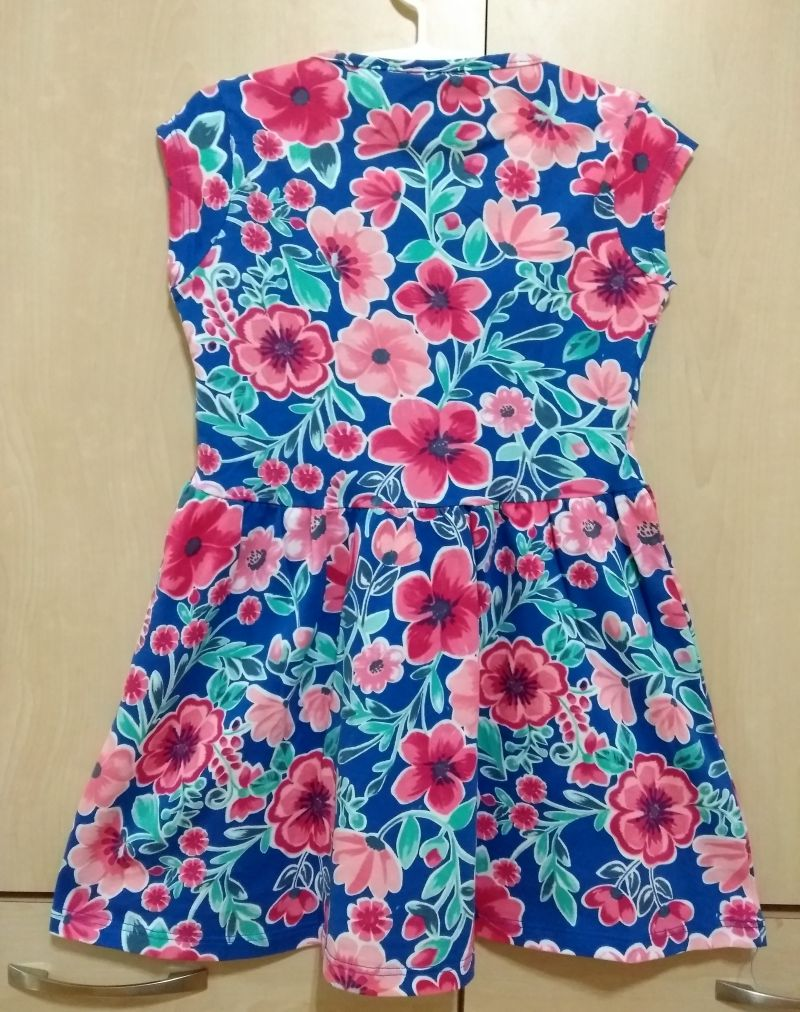 Vestido floral azul malwee