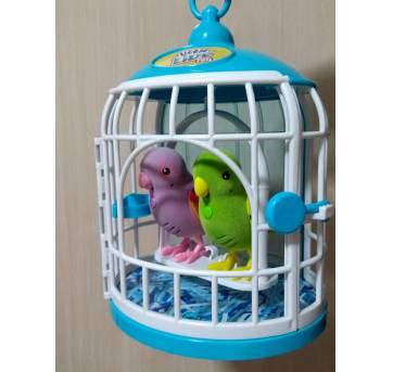 2 Pássaros com Gaiola Little Live Pets Canta e Fala - Sem faixa etaria - DTC