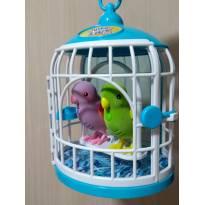 2 Pássaros com Gaiola Little Live Pets Canta e Fala