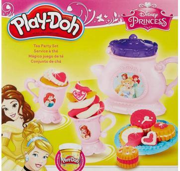 Play Doh A Hora do Chá com as Princesas Disney - Sem faixa etaria - Disney