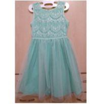 Vestido Verde Água Carter`s - 6 anos - Carter`s