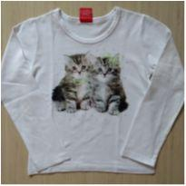 Camiseta Manga Longa com Gatinhos Kyly - 6 anos - Kyly