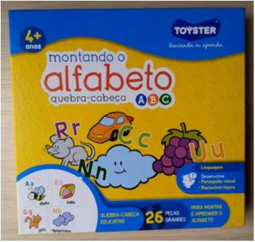 Alfabeto Quebra-Cabeça Ilustrado Toyster - Sem faixa etaria - Toyster