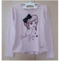 Camiseta Manga Longa Fashion Girls - 8 anos - Marisol