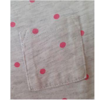 Blusa Cinza Mescla com Bolinhas Rosa H&M (4-6 anos) - 4 anos - H&M
