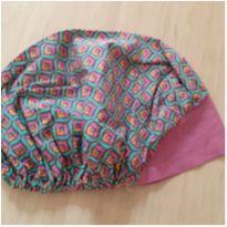 Touca de pano com estampa de lírio -  - Handmade