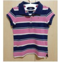 Camisa Tommy Polo Clássica Listrada (6/7 anos) - 6 anos - Tommy Hilfiger