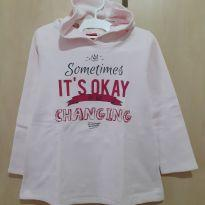 Blusa Moletom Rosa It`s OK To Be Changing - 6 anos - Kyly