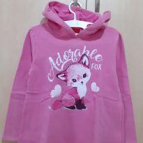 Blusa Moletom Rosa Adorable Fox - 6 anos - Kyly
