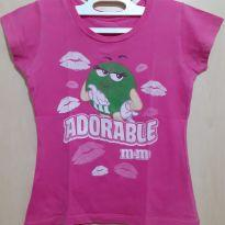 Blusa Pink Adorable M&M`s - 5 anos - M&M`s World