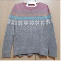 Suéter Cinza com Flocos de Neve GAP - 6 anos - GAP