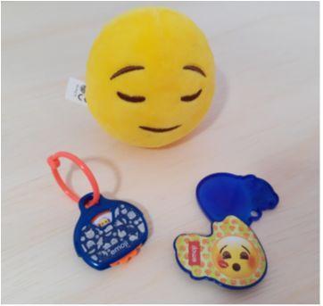 Kit de Brinquedos Emoji - Sem faixa etaria - Kinder Ovo
