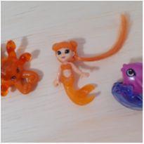Kit com mini brinquedos fundo do mar -  - Kinder Ovo
