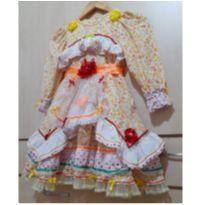 Vestido Junino Caipira - 5 anos - Produzido em Atelier