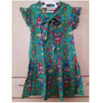 Vestido Verde com Estampa de Pássaros - 6 anos - Fábula