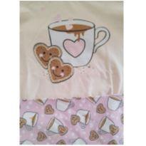 Pijama com Estampa de Capuccino que Brilha no Escuro - 6 anos - Kyly