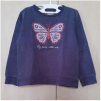 Moletom Marinho com Estampa de Borboleta - 6 anos - Marco Textil