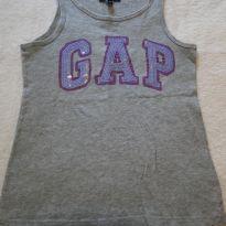 Linda camiseta sem manga cinza GAP com bordado brilhante - 8 anos - GAP