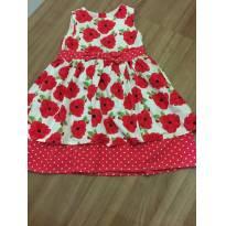 Vestido flores Vermelha - 12 a 18 meses - Young dimension
