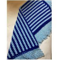 Manta azul de crochet -  - Não informada