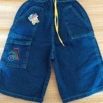 Bermuda jeans tamanho GG/8 anos